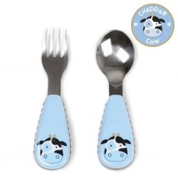 ชุดช้อนและส้อมสำหรับเด็กสุดน่ารัก Skip Hop รุ่น Zootensils Little Kids Fork & Spoon (Cow)