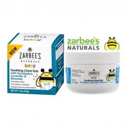 บาล์มขี้ผึ้งจากธรรมชาติสำหรับทารกและเด็กเล็ก Zarbee's Naturals Baby Soothing Chest Rub