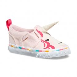 รองเท้าผ้าใบสำหรับเด็ก VANS Toddler Asher V Canvas Pink Unicorn