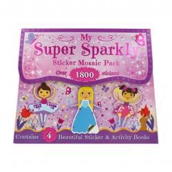 กระเป๋ากิจกรรมเสริมทักษะสุดน่ารัก My Super Sparkly Sticker Mosiac Pack