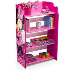 ชั้นวางหนังสือไม้แสนน่ารัก Delta Children Bookshelf (Disney Minnie Mouse)