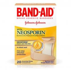พลาสเตอร์ปิดแผลพร้อมยาฆ่าเชื้อ Johnson & Johnson BAND-AID with Neosporin