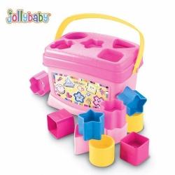 กล่องหยอดบล็อค Jolly Baby Lovely Baby's First Blocks (Pink)