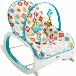 เปลโยกสั่นอัตโนมัติและเก้าอี้โยกเอนกประสงค์ Fisher-Price รุ่น Infant-to-Toddler Rocker (Geo Diamonds)