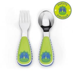 ชุดช้อนและส้อมสำหรับเด็กสุดน่ารัก Skip Hop รุ่น Zootensils Little Kids Fork & Spoon (Dinosaur)