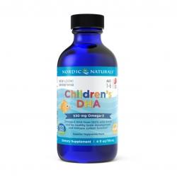 น้ำมันปลาบริสุทธิ์สำหรับเด็ก Nordic Naturals Children's DHA 530mg Omega 3 (4 Fl. Oz.)