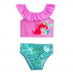 ชุดว่ายน้ำแบบทูพีซป้องกันรังสี UV สำหรับทารกและเด็กเล็ก Disney Two-Piece Swimsuit for Baby (Ariel The Little Mermaid)