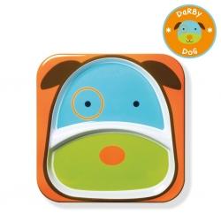จานอาหารแบ่ง 2 ช่องสำหรับเด็ก Skip Hop รุ่น Zoo Plate (Dog)