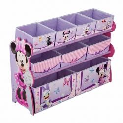ชั้นเก็บของเล่นสุดน่ารัก Delta Children Deluxe 9 Bin Toy Organizer (Minnie Mouse)