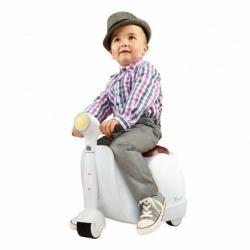 กระเป๋าเดินทางขับขี่ได้สำหรับเด็ก Skoot Children's Ride-On Suitcase (Clean White)