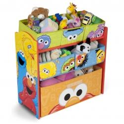 ชั้นเก็บของเล่นสำหรับลูกน้อย Delta Children Multi-Bin Toy Organizer (Sesame Street)