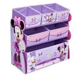 ชั้นเก็บของเล่นสำหรับลูกน้อย Delta Children Multi-Bin Toy Organizer (Disney Minnie Mouse)