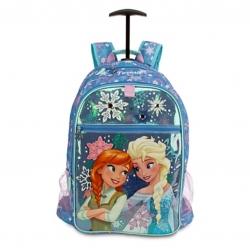 กระเป๋าสะพายพร้อมมือจับและล้อลาก Disney Frozen Anna & Elsa Rolling Backpack (Blue)
