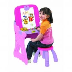 โต๊ะวาดเขียนเอนกประสงค์ Crayola Play 'N Fold 2-in-1 Art Studio (Pink)