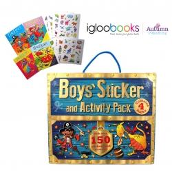 ชุดกระเป๋ากิจกรรมและสติ๊กเกอร์สำหรับหนุ่มน้อย Boys' Sticker and Activity Pack