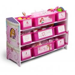 ชั้นเก็บของไม้พร้อมกระบะพลาสติก Delta Children Plastic 9 Bin Organizer (Disney Princess)