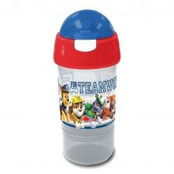 กระติกน้ำพร้อมหลอดดื่มสำหรับบรรจุเครื่องดื่มและของว่าง Sip N Snack Bottle (Paw Patrol Blue)