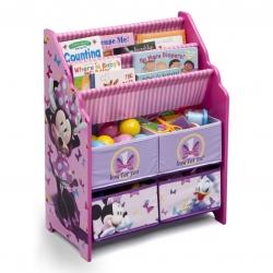 ชั้นเก็บหนังสือและของเล่นสำหรับเด็ก Delta Children Book & Toy Organizer (Disney Minnie Mouse)