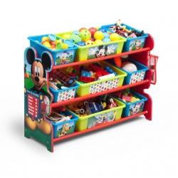 ชั้นเก็บของไม้พร้อมกระบะพลาสติก Delta Children Plastic 9 Bin Organizer (Disney Mickey Mouse)