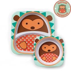 จานและชามบรรจุอาหารสุดน่ารัก Skip Hop รุ่น Zoo Melamine Set (Hedgehog)