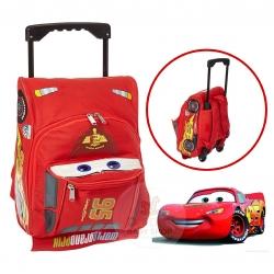 กระเป๋าเป้สะพายหลังพร้อมล้อลาก Ruz Disney Cars Lightning McQueen Toddler Rolling Backpack
