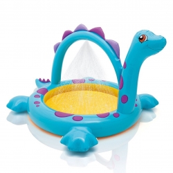 สระน้ำเป่าลมพร้อมน้ำพุ Intex Dinosaur Inflatable Pool for Kids