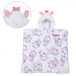 ผ้าเช็ดตัวแบบมีฮู้ดสำหรับเด็ก Disney Marie Hooded Towel for Girls