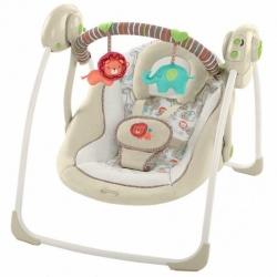 เปลไกวสวิงอัตโนมัติ Bright Starts Comfort and Harmony Portable Swing Cozy Kingdom