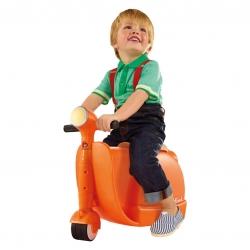 กระเป๋าเดินทางขับขี่ได้สำหรับเด็ก Skoot Children's Ride-On Suitcase (Tangerine)