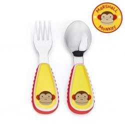 ชุดช้อนและส้อมสำหรับเด็กสุดน่ารัก Skip Hop รุ่น Zootensils Little Kids Fork & Spoon (Monkey)