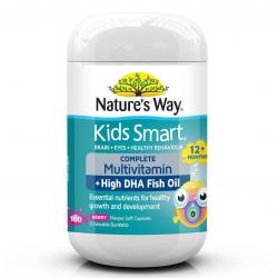 วิตามินรวมพร้อมแร่ธาตุ DHA สำหรับเด็ก Nature's Way Kids Smart COMPLETE Multivitamin + High DHA Fish Oil (100 Soft Capsules)