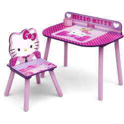 โต๊ะเขียนหนังสือพร้อมเก้าอี้สำหรับเด็ก Delta Children Desk and Chair Set (Hello Kitty)