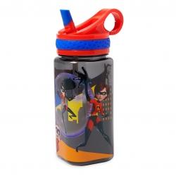 กระติกน้ำแบบหลอดดื่มสำหรับเด็ก Disney Water Bottle with Built-In Straw (Incredibles 2)