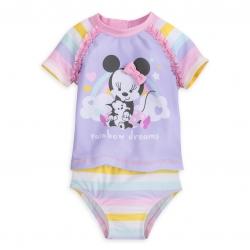 ชุดว่ายน้ำแบบทูพีซป้องกันรังสี UV สำหรับทารกและเด็กเล็ก Disney Two-Piece Swimsuit for Baby (Minnie Mouse)