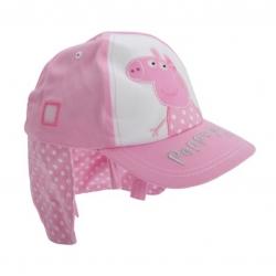 หมวกแก็ปพร้อมผ้ากันแดดสำหรับเด็ก Peppa Pig Pink Sun Cap with Flaps