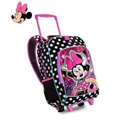 กระเป๋าสะพายพร้อมมือจับและล้อลาก Disney Rolling Backpack (Minnie Mouse)