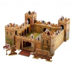 หนังสือและชุดประกอบปราสาทอัศวินจำลอง Slot-Together Castle