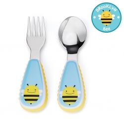 ชุดช้อนและส้อมสำหรับเด็กสุดน่ารัก Skip Hop รุ่น Zootensils Little Kids Fork & Spoon (Bee)