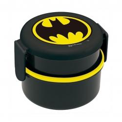 กล่องอาหารกลางวันและของว่าง Skater 2-Level Bento Lunch Box with Fork (Batman)