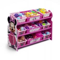 ชั้นเก็บของไม้พร้อมกระบะพลาสติก Delta Children Plastic 9 Bin Organizer (Disney Minnie Mouse)