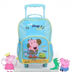 กระเป๋าเป้สะพายหลังพร้อมล้อลาก Peppa Pig George Pig Jump, Jump, Jump Premium Wheeled Backpack for Kids