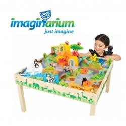 โต๊ะกิจกรรมพร้อมของเล่นไม้สุดคลาสสิค Imaginarium Discovery - Zoo Play Table