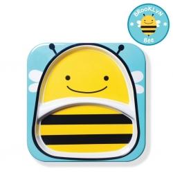 จานอาหารแบ่ง 2 ช่องสำหรับเด็ก Skip Hop รุ่น Zoo Plate (Bee)