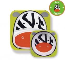 จานและชามบรรจุอาหารสุดน่ารัก Skip Hop รุ่น Zoo Melamine Set (Zebra)