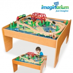 โต๊ะกิจกรรมเอนกประสงค์พร้อมชุดโมเดลรถไฟ Imaginarium 55-Piece Train Set with Table