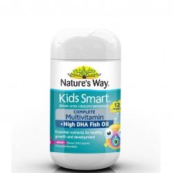 วิตามินรวมพร้อมแร่ธาตุ DHA สำหรับเด็ก Nature's Way Kids Smart COMPLETE Multivitamin + High DHA Fish Oil (50 Soft Capsules)