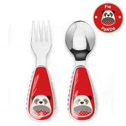 ชุดช้อนและส้อมสำหรับเด็กสุดน่ารัก Skip Hop รุ่น Zootensils Little Kids Fork & Spoon (Panda)