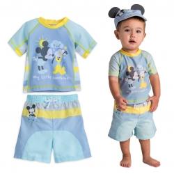 ชุดว่ายน้ำป้องกันรังสียูวีสำหรับทารกและเด็กเล็ก Disney Rash Guard & Swim Trunks for Baby (Mickey Mouse)