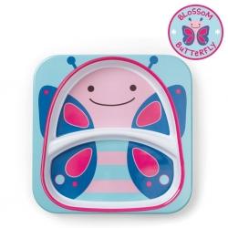 จานอาหารแบ่ง 2 ช่องสำหรับเด็ก Skip Hop รุ่น Zoo Plate (Butterfly)