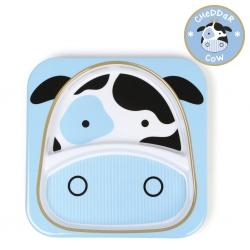 จานอาหารแบ่ง 2 ช่องสำหรับเด็ก Skip Hop รุ่น Zoo Plate (Cow)